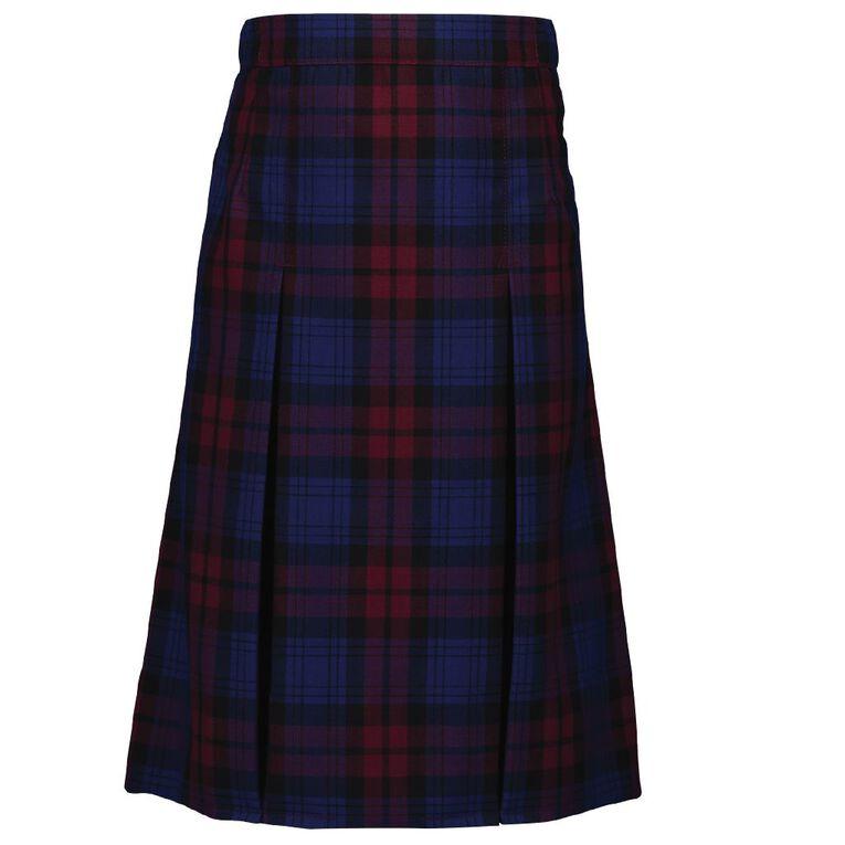 Schooltex Two Pleat Skirt, Schooltex Tartan TRT004, hi-res