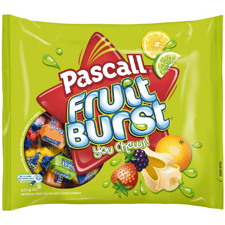 Pascall Fruit Burst in Jumbo Bag 400g, , hi-res