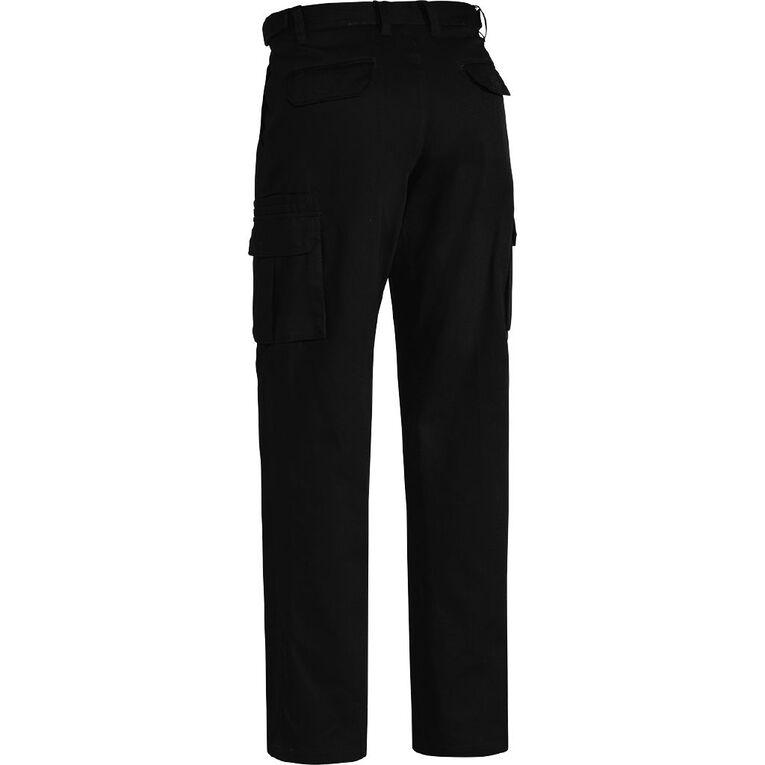 Bisley Workwear Cargo Pants, Black, hi-res