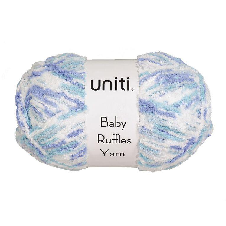 Uniti Yarn Baby Ruffles Blue/White 200g, , hi-res