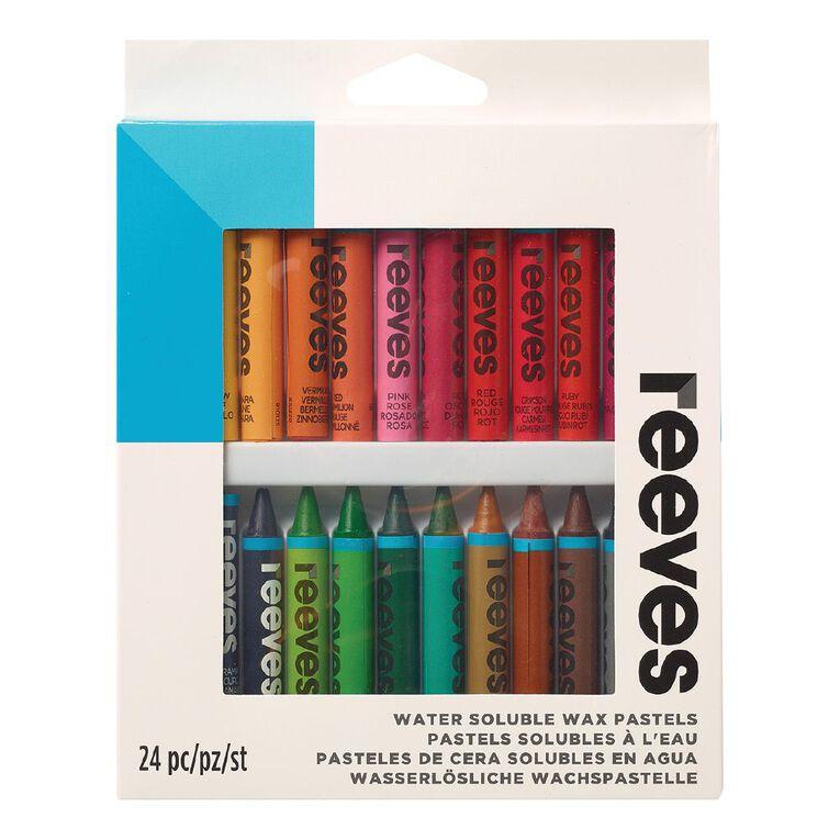 Reeves Water Soluble Wax Pastels 24 Pack, , hi-res