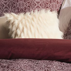 Living & Co Nordic Luxe Faux Feather Cushion Natural 45cm x 45cm