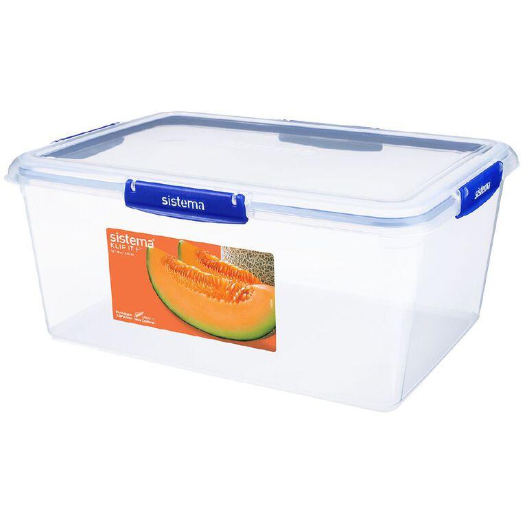 Sistema Klip It Plus Rectangular Container Assorted 10L, , hi-res
