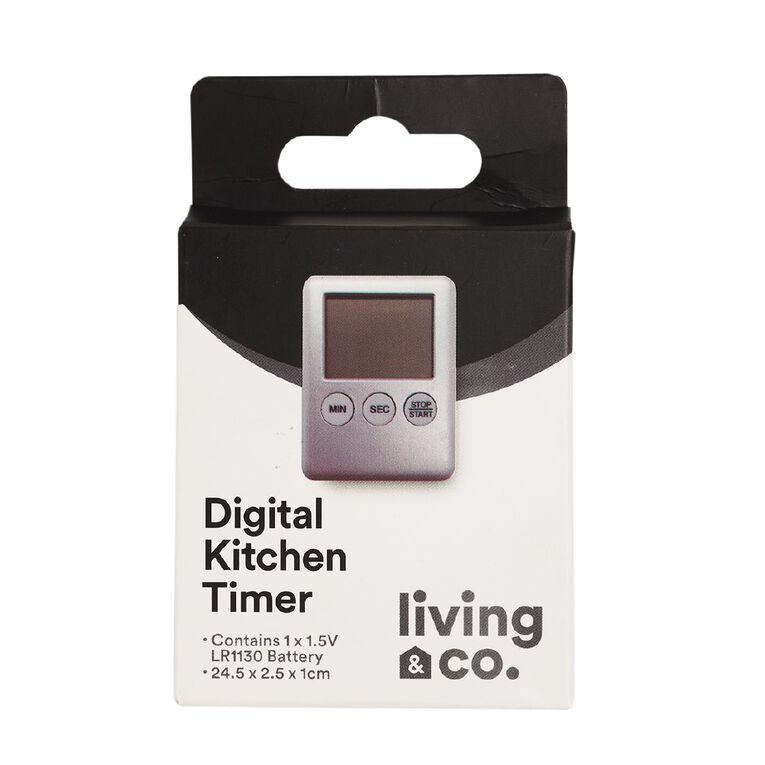 Living & Co Digital Kitchen Timer, , hi-res