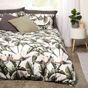 Living & Co Duvet Cover Set Paradise Green