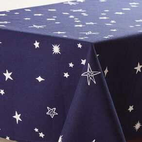 Party Inc Kids' Tablecloth Cotton Star 150cm x 225cm Blue