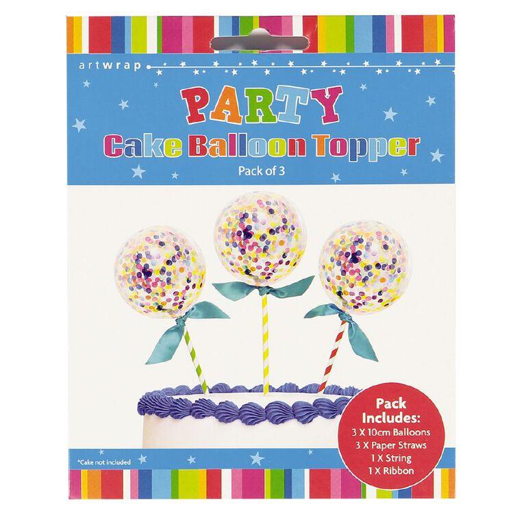 Artwrap Party Cake Topper Mini Balloon Confetti 3 Pack, , hi-res