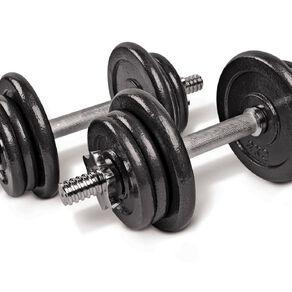 Active Intent Fitness Adjustable Dumbbell Set in Plastic Case Black 20kg