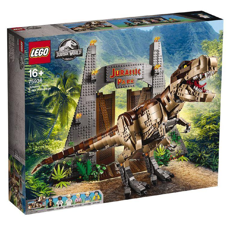LEGO Jurassic World Jurassic Park T. Rex Rampage 75936, , hi-res