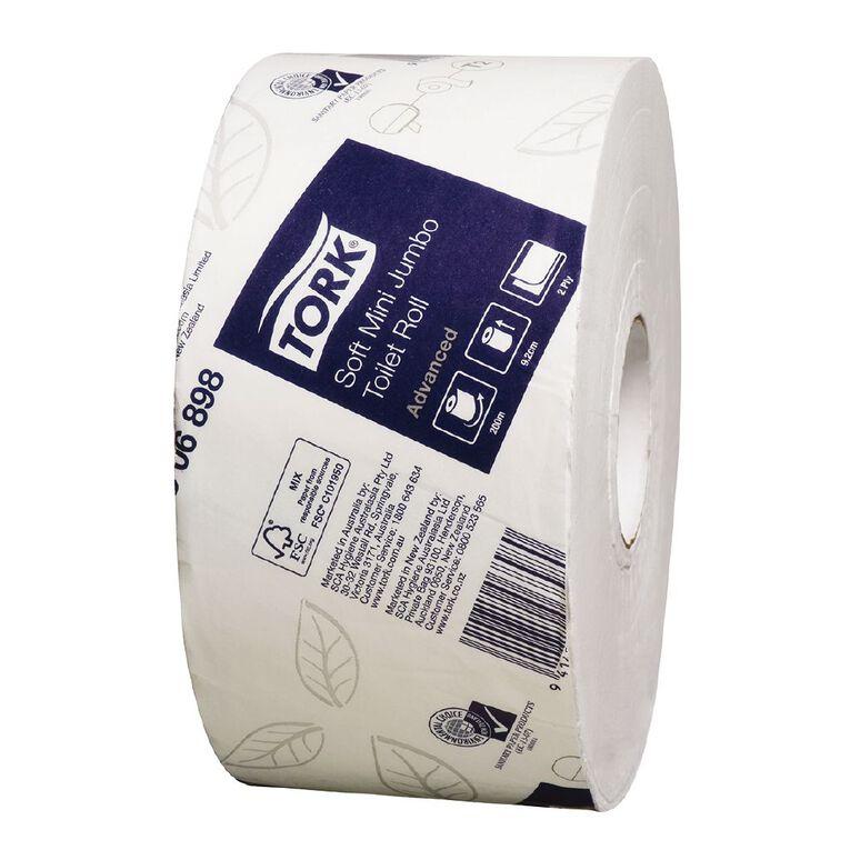 TORK Tork T2 Soft Mini Jumbo Toilet Roll 2ply Advanced 200m, , hi-res