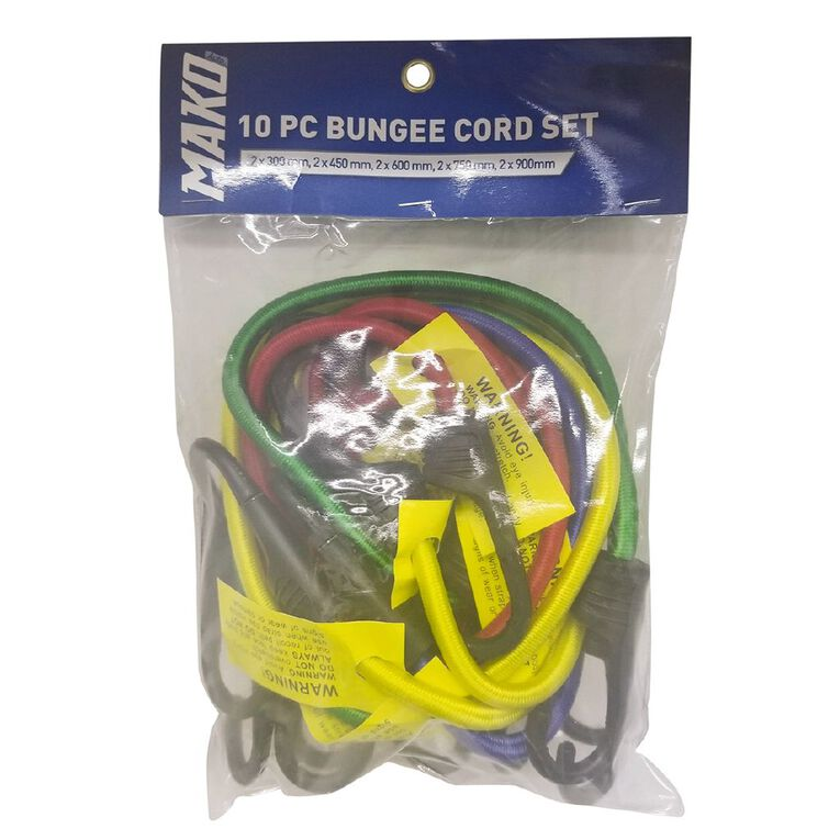 Mako 10 Piece Bungee Cord Set, , hi-res