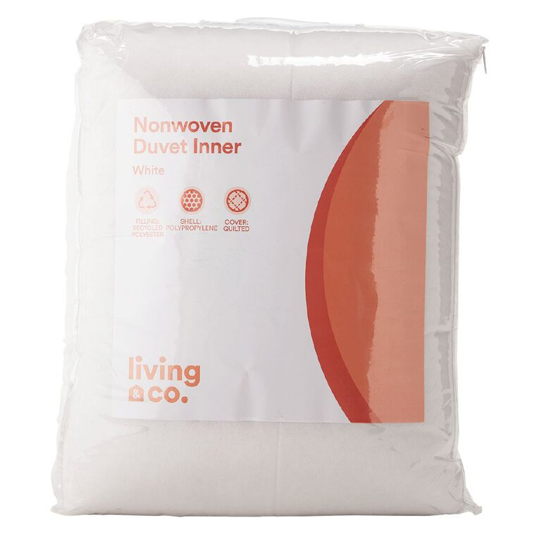Living & Co Duvet Inner Non Woven White Queen, White, hi-res