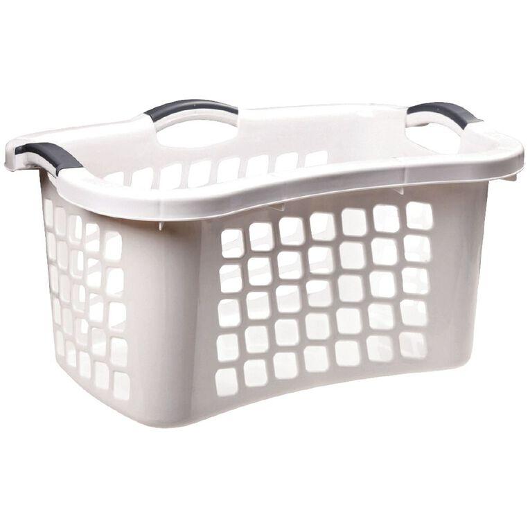Taurus Laundry Basket White, , hi-res