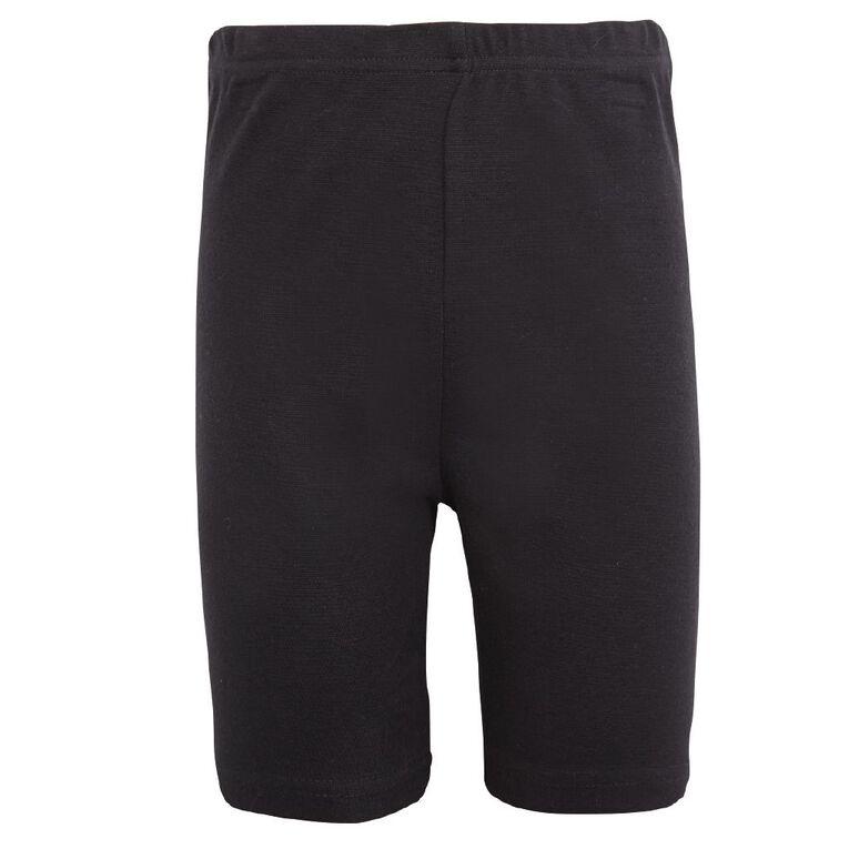 Schooltex Girls' Bike Shorts, Black, hi-res