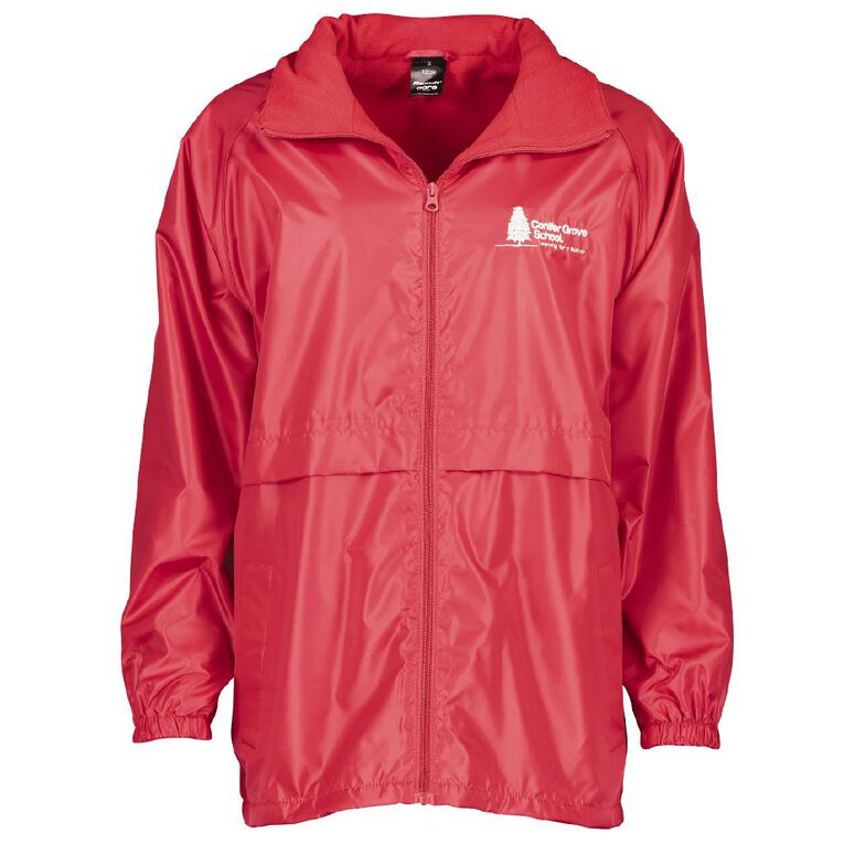 Schooltex Conifer Grove Jacket with Embroidery, Red, hi-res