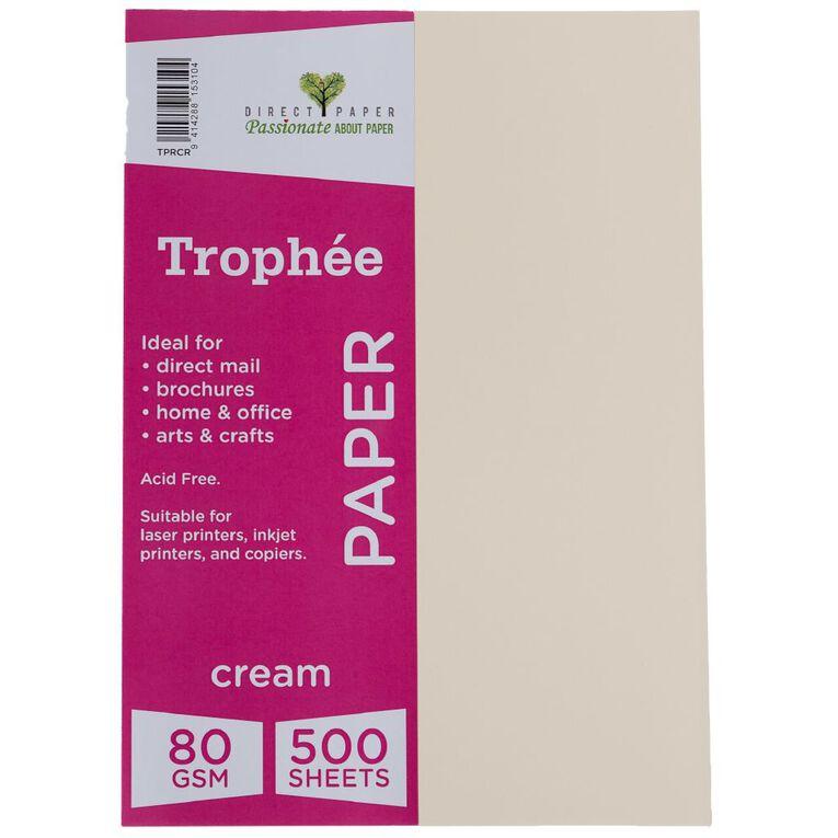 Trophee Paper 80gsm 500 Pack Cream A4, , hi-res