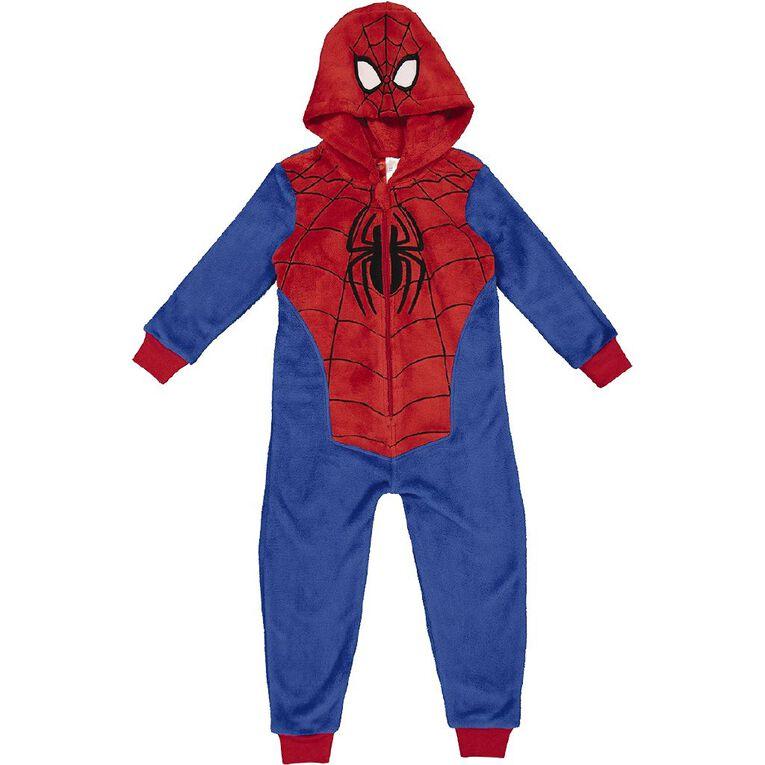 Spider-Man Kids' Onesie, Blue, hi-res