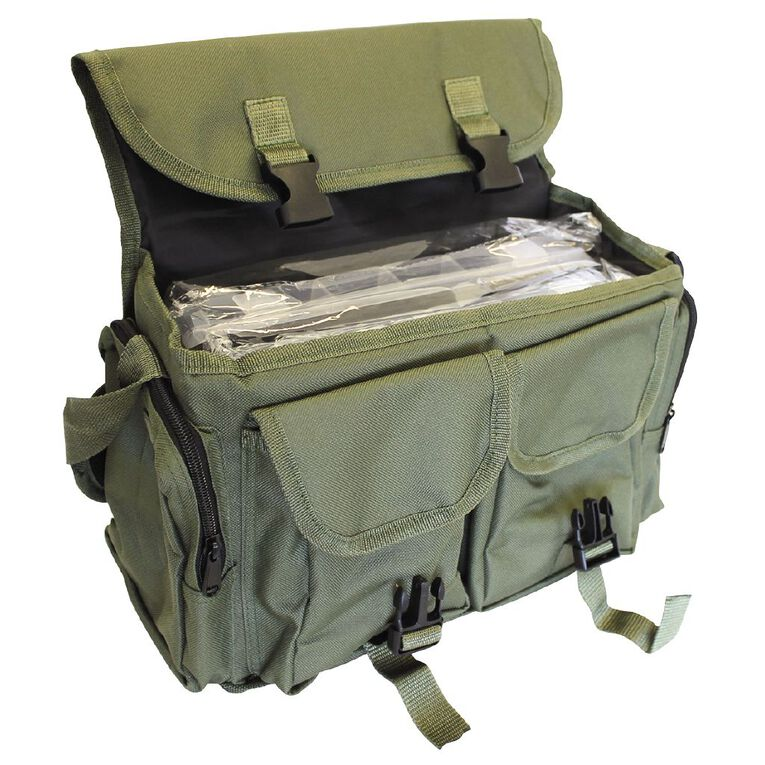Maxistrike Soft Green Two Tray Tackle Bag, , hi-res