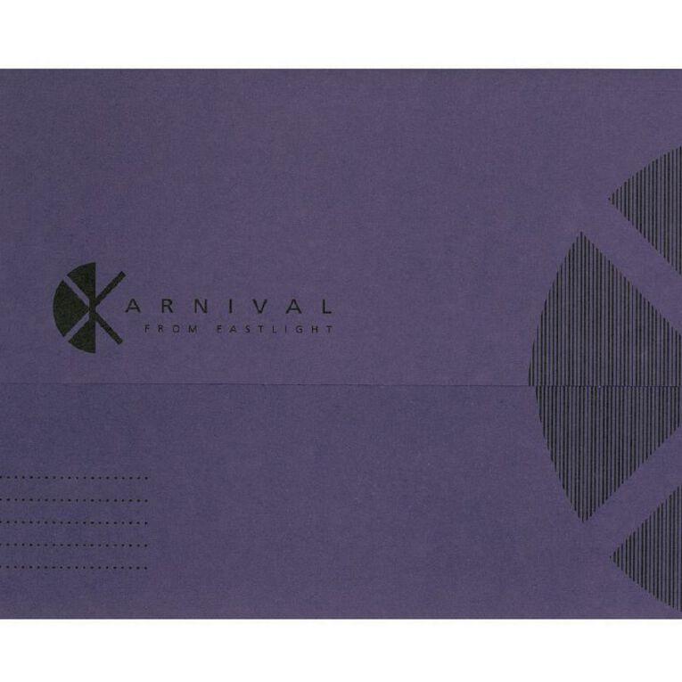 Eastlight Document Wallet Foolscap Expanding Karnival Violet, , hi-res