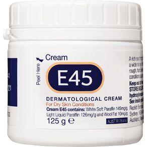 Dermatological E45 Cream for Dry Skin Conditions 125g