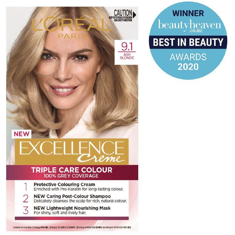 L'Oreal Paris Excellence Creme Light Ash Blonde 9.1, , hi-res