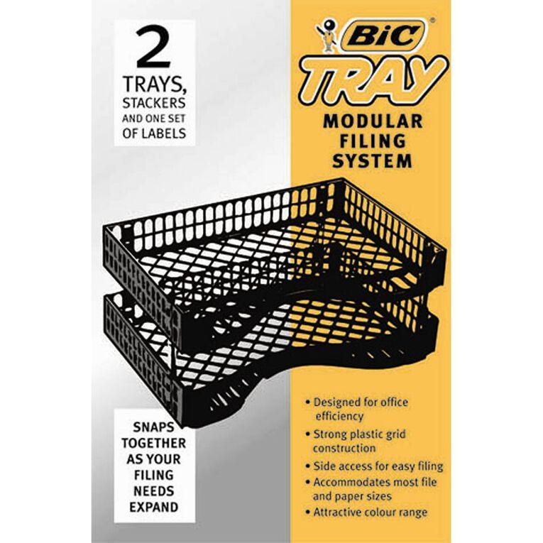 Bic Letter Trays 2 Pack Black, , hi-res