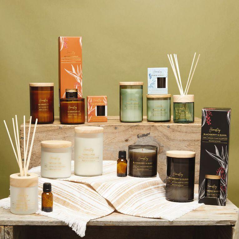 Living & Co Homestay Candle Vanilla Pod White 7.5oz, White, hi-res