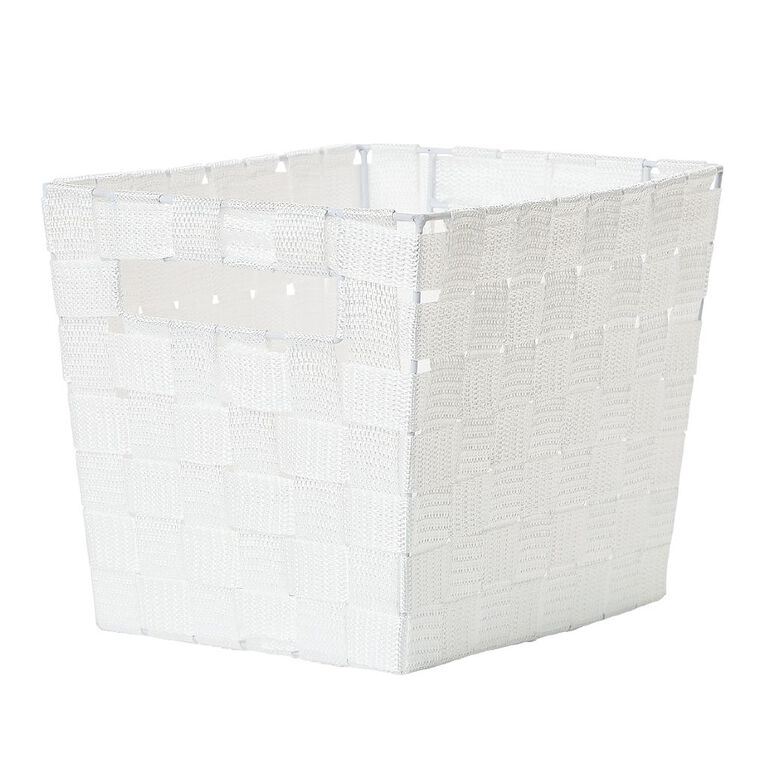 Living & Co Woven Basket White Small, , hi-res