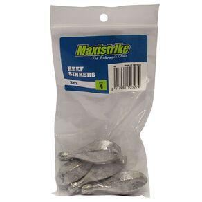 Maxistrike Fishing Sinkers Reef 2 oz 4 Pack