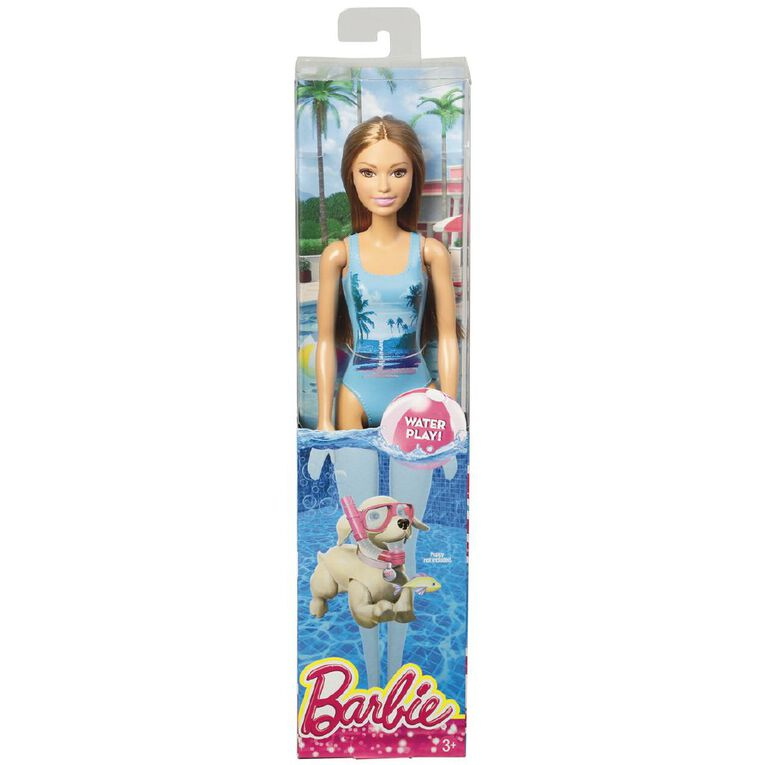 Barbie Beach Doll Assorted, , hi-res image number null