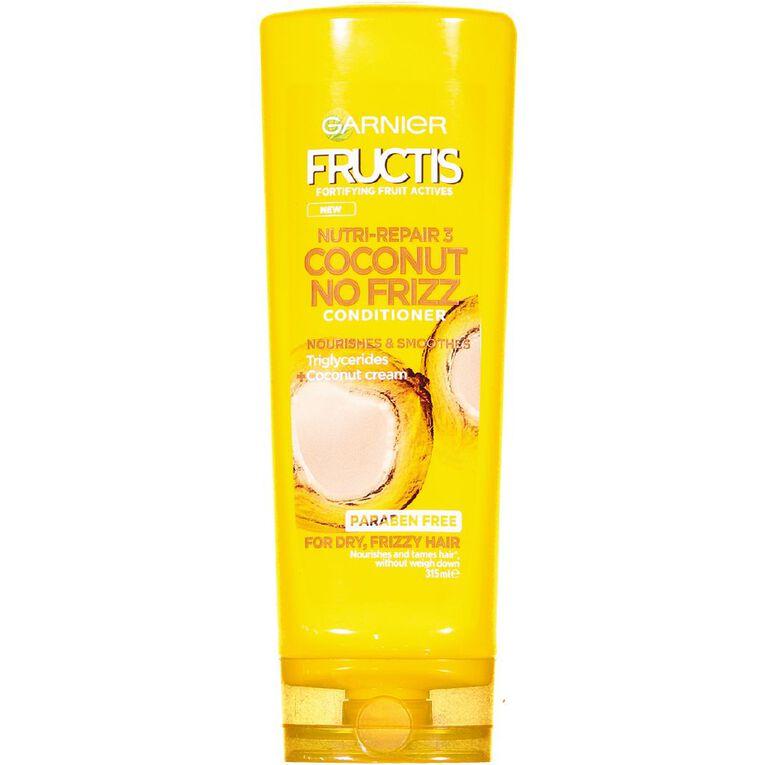 Garnier Fructis Coconut No Frizz Conditioner 315ml, , hi-res