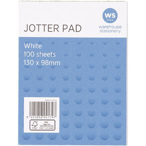 WS Jotter Pad 100 Sheets 130x98mm White
