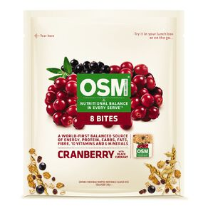 One Square Meal Bites Cranberry and Blackcurrant 8 Pack