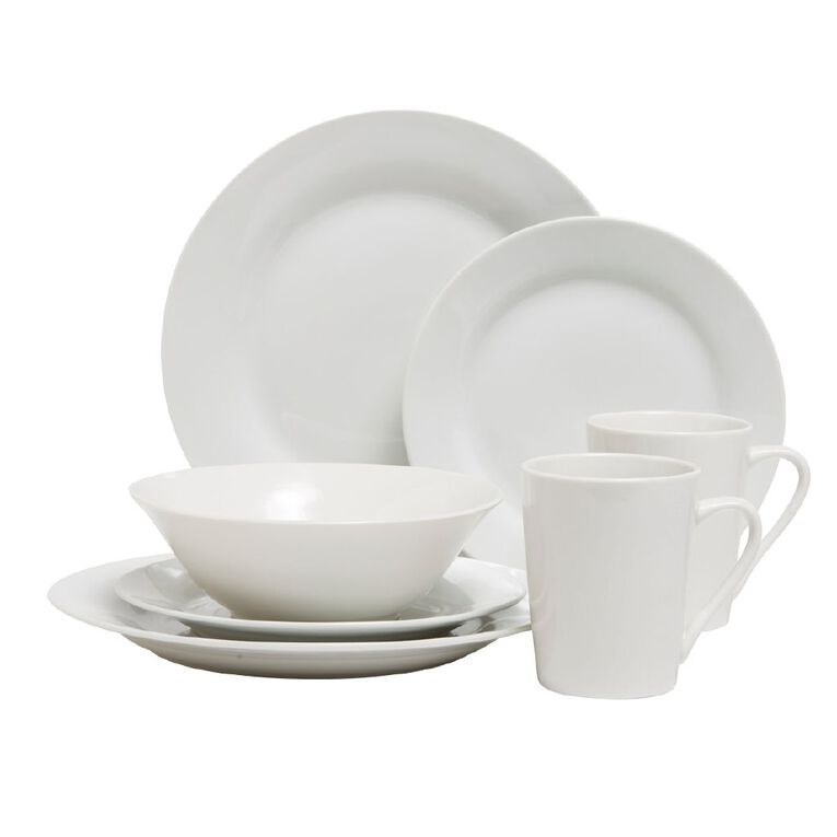 Living & Co Essentials Dinner Plate White, , hi-res
