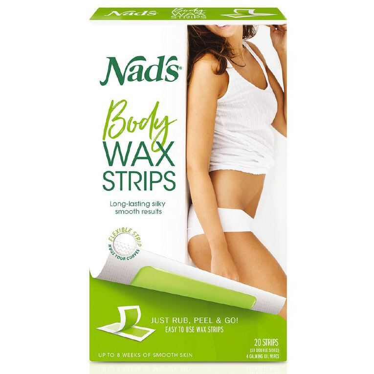 Nads Body Wax Strips 20 Pack, , hi-res