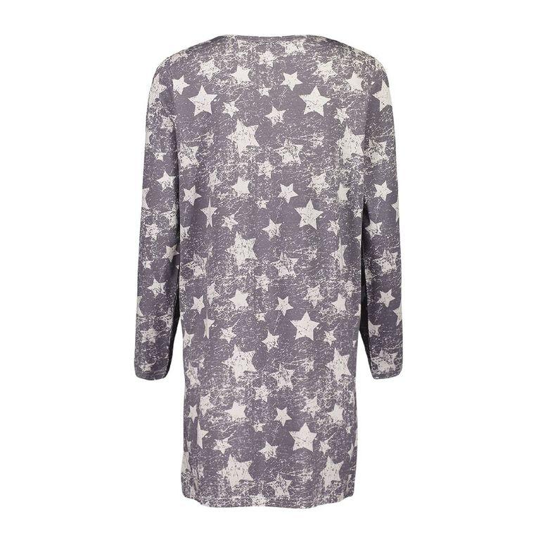H&H Women's Long Sleeves Nightie, Blue, hi-res