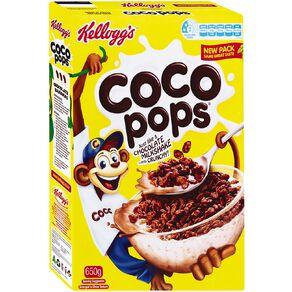 Kelloggs Coco Pops Cereal 650g