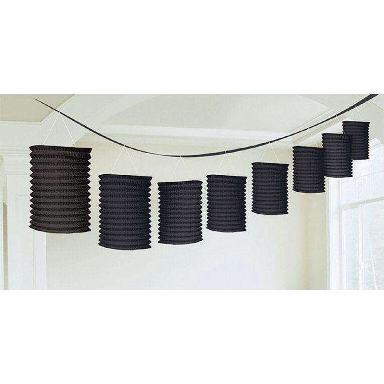 Amscan Paper Lantern Garland Black, , hi-res
