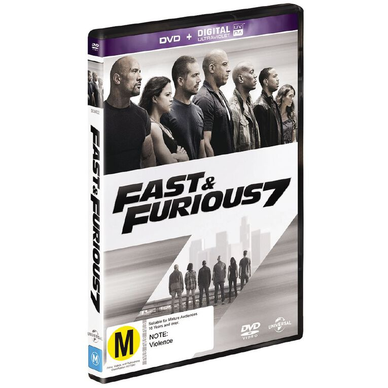 Fast and Furious 7 DVD 1Disc, , hi-res