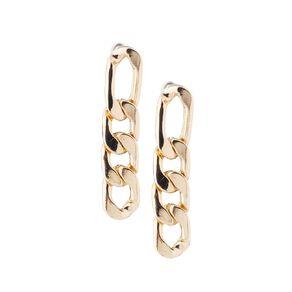 Flat Chain Gold Earring 1 Pair