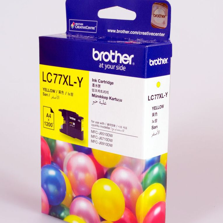 Brother Ink LC77XL Yellow (1200 Pages), , hi-res
