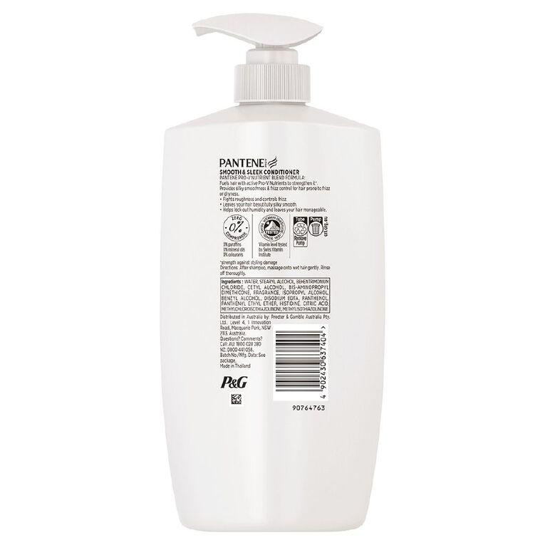Pantene Smooth & Sleek Conditioner 900ml, , hi-res