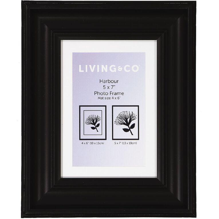 Living & Co Harbour Frame Black 5in x 7in, Black, hi-res