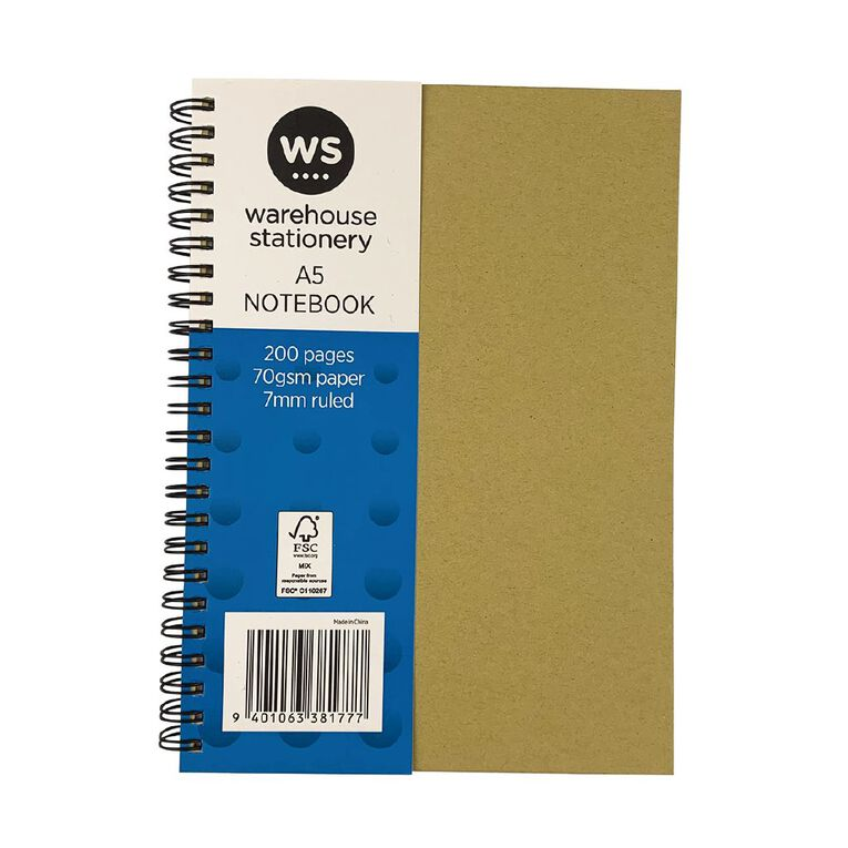 WS Notebook Wiro Kraft 200 Pages A5, , hi-res