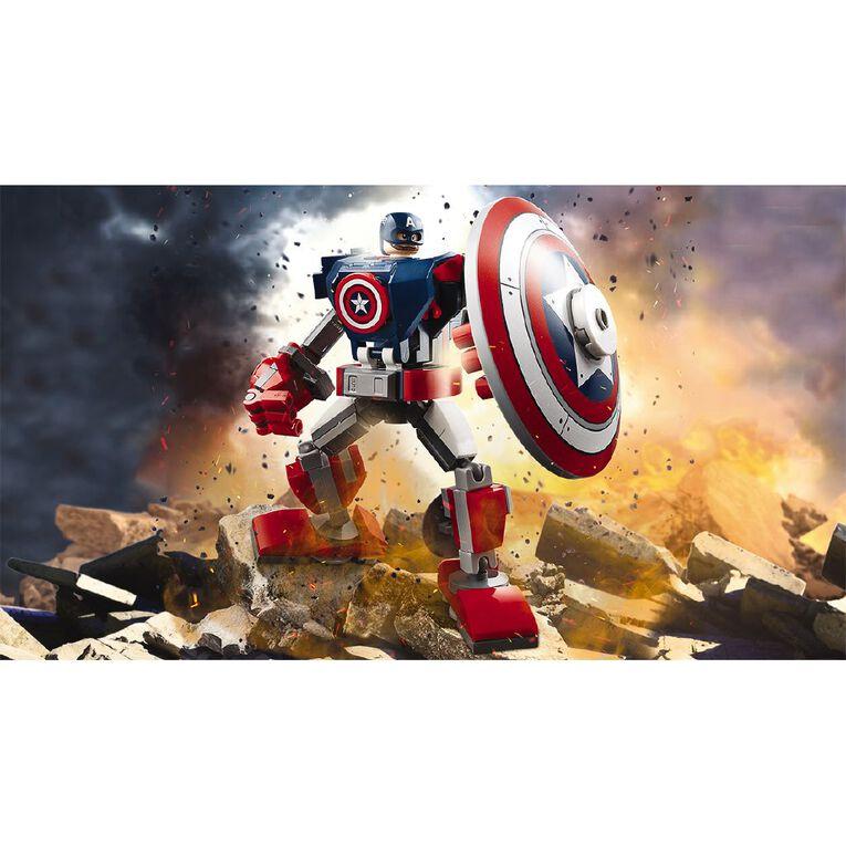 LEGO Marvel Super Heroes Captain America Mech Armor 76168, , hi-res