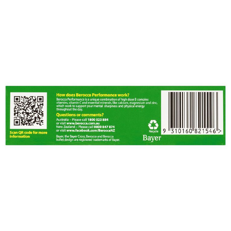 Berocca Performance Mango & Orange Effervescent Tablets 15s, , hi-res image number null