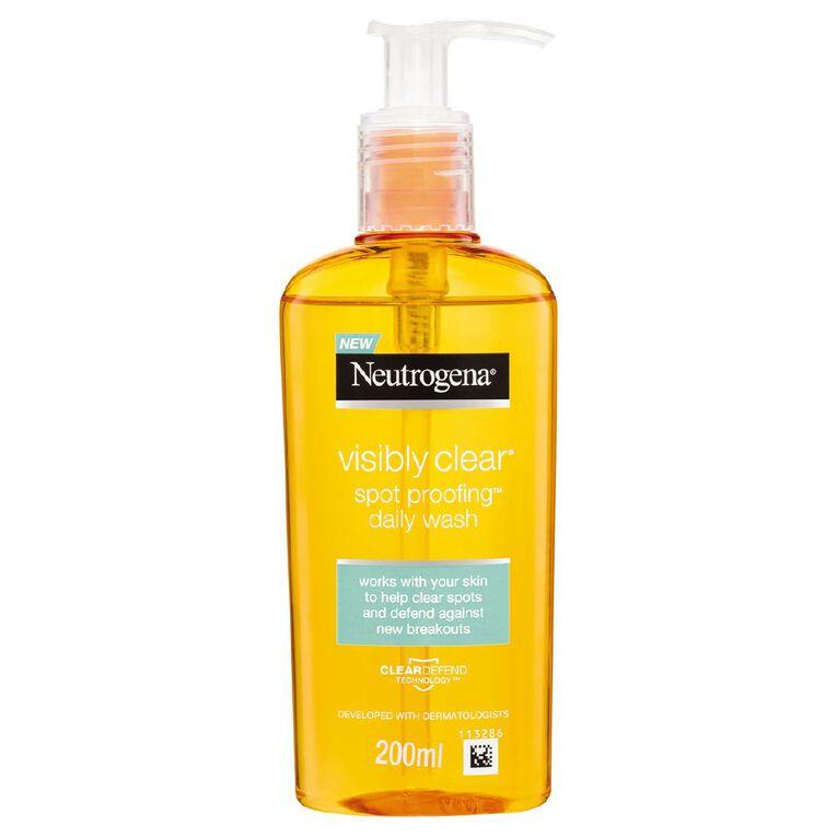 Neutrogena Visibly Clear Gel Cleanser 200ml, , hi-res