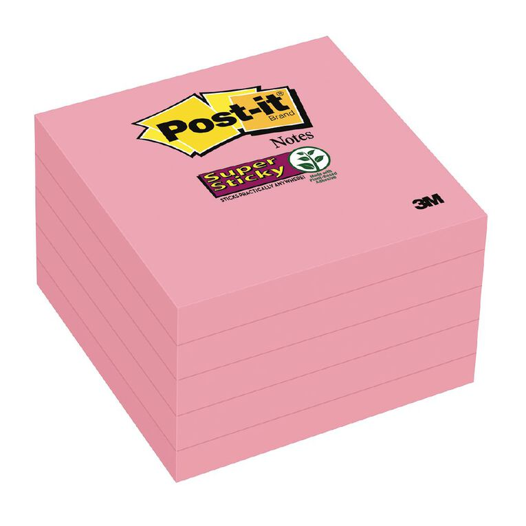 Post-It Super Sticky Notes 5 Pack Neon Pink, , hi-res