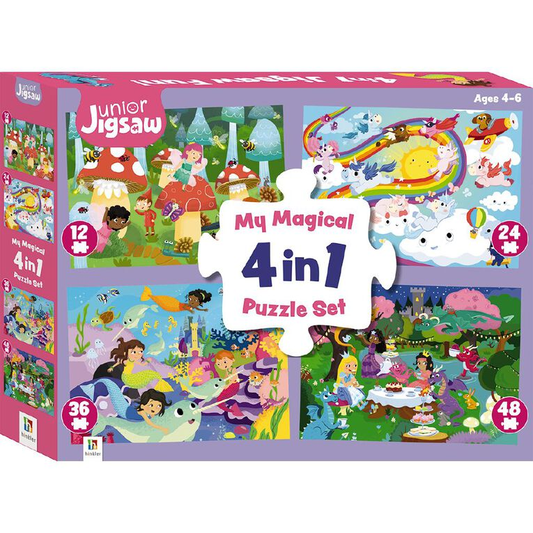 Hinkler Junior Jigsaw Magical 4-in-1 Puzzle Set, , hi-res