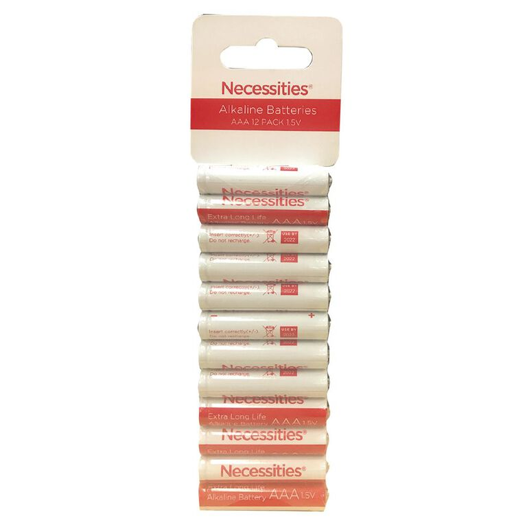 Necessities Brand AAA LR03 Alkaline 12 Pack, , hi-res image number null